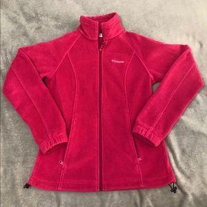 Columbia Fleece Jacket Women's Pink Small
